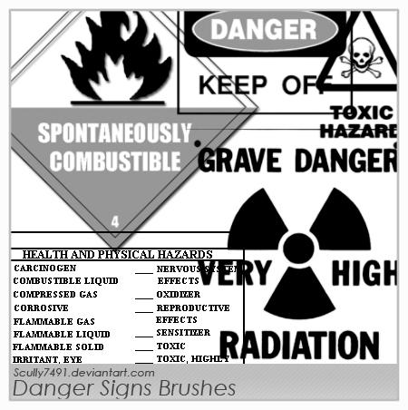 Danger Signs Brushes