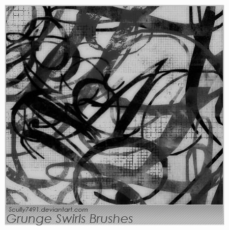 Grunge Swirls and Grids