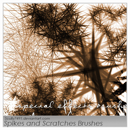 Spikes and Scratches Brush