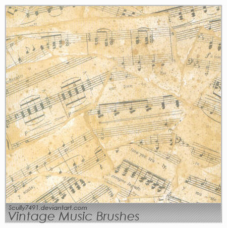 Vintage Music Brushes by Scully7491