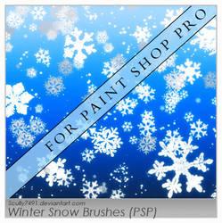 Winter Snow Brushes FOR PSP