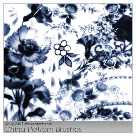 China Pattern Brushes by Scully7491