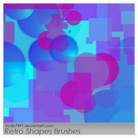 Retro Shape Brushes by Scully7491