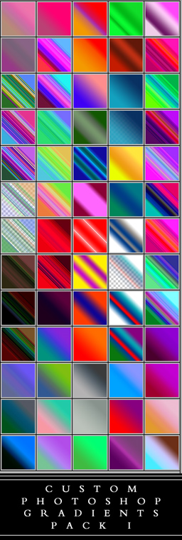 Custom Photoshop Gradient Pack by Scully7491
