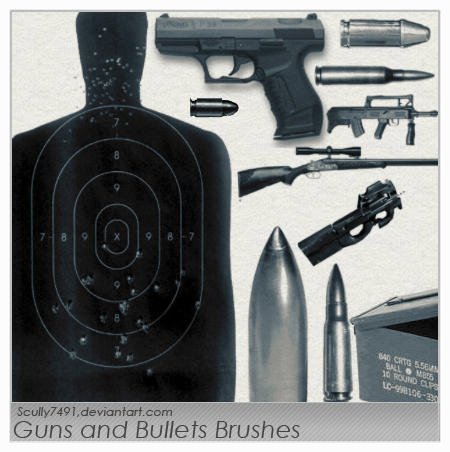 GUN's Brushes Guns_and_Bullets_Brushes_by_Scully7491