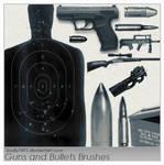 Guns and Bullets Brushes