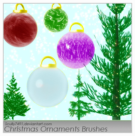 Christmas Ornament Brushes