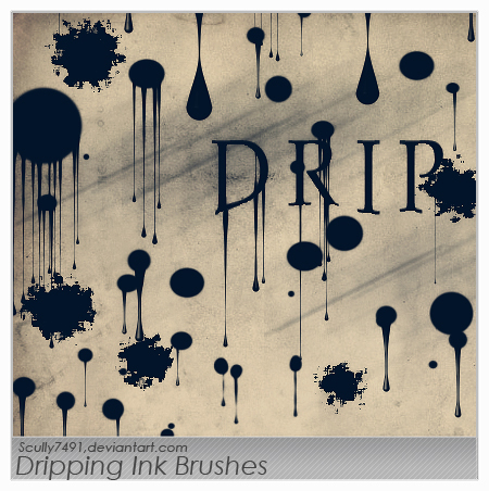Dripping Ink Brushes