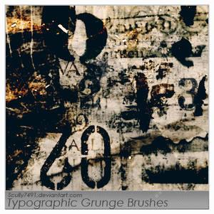 Typographic Grunge Brushes