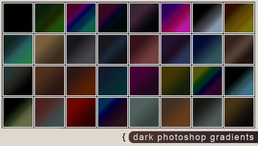 Dark Photoshop gradients by Scully7491