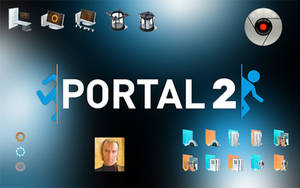 Portal 2 Windows 7 icon sound theme pack