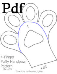 Pdf version 4 Finger Puffy/Toony Handpaw Pattern