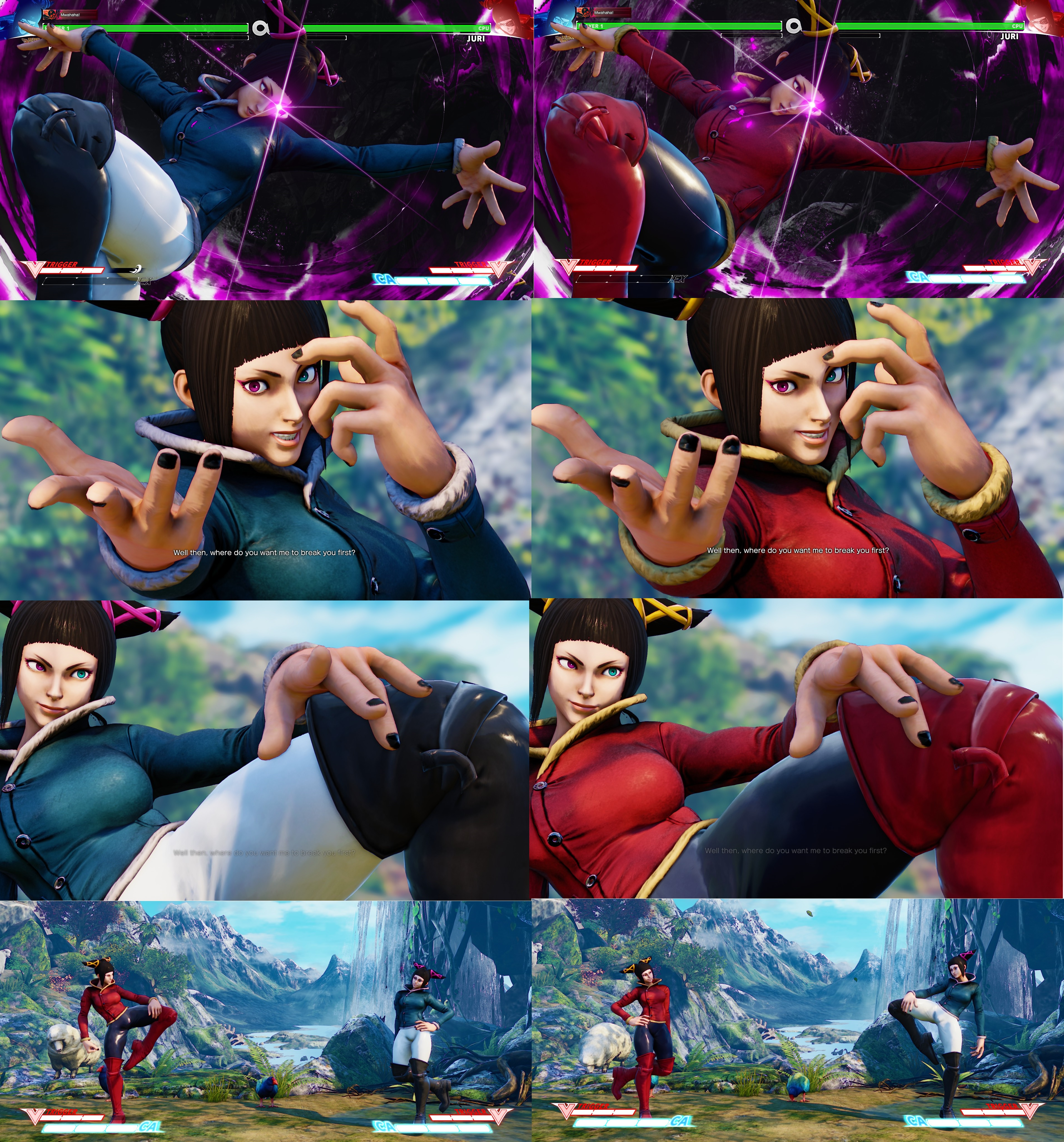 Juri Story With No Gloves and One Coloured Pants