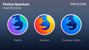 Firefox Quantum - macOS Styled Icon