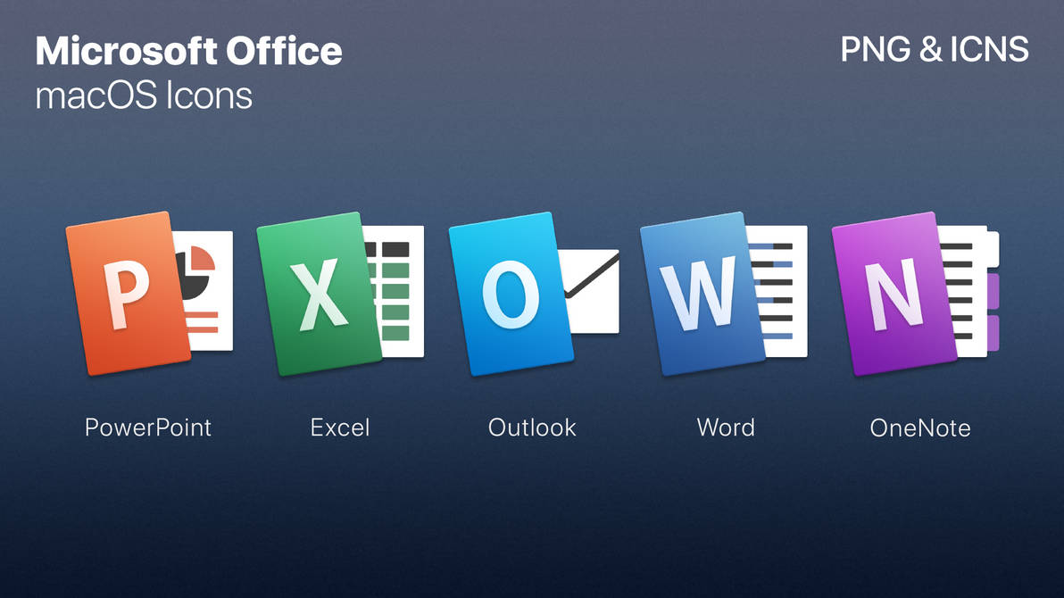 Microsoft Office - macOS Styled Icons by zachlucier on DeviantArt