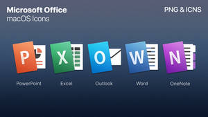 Microsoft Office - macOS Styled Icons