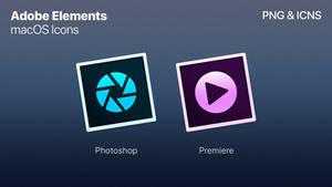 Adobe Elements - macOS Styled Icons
