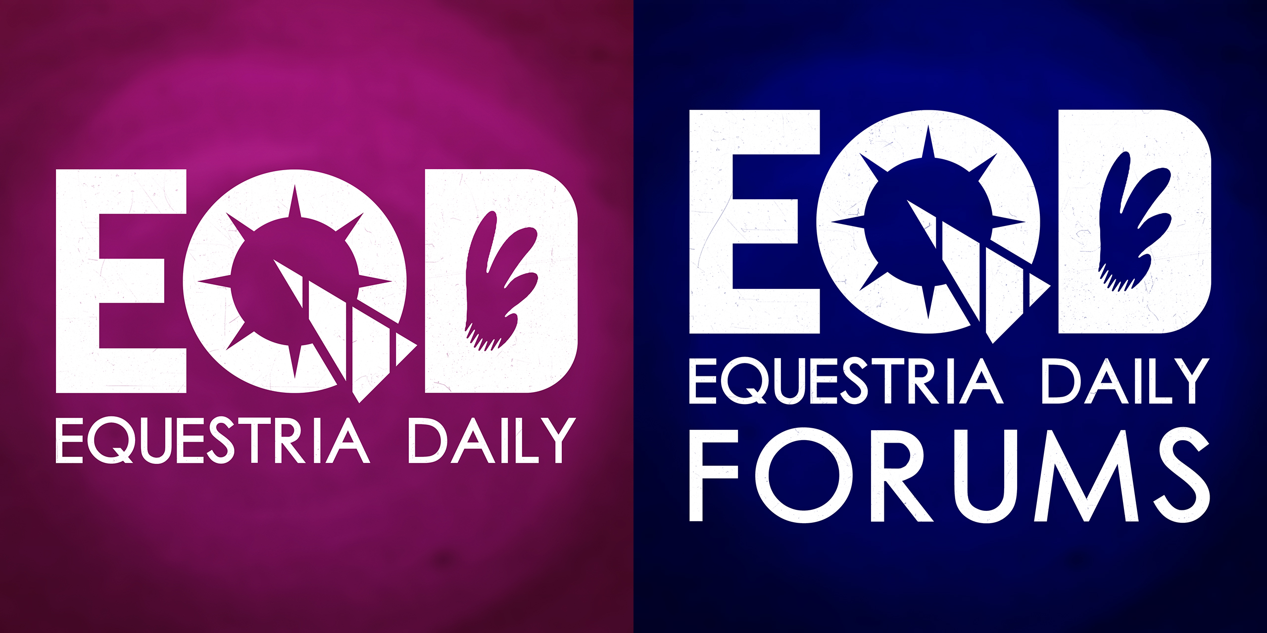Equestria Daily Logos - 3780px by dadiocoleman