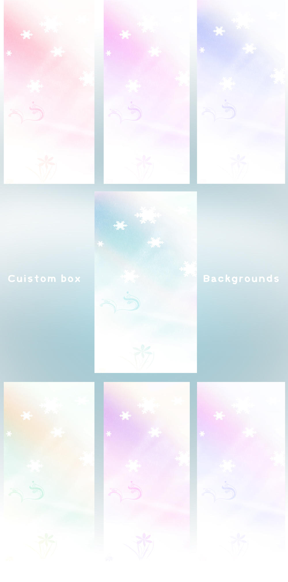 Winter Custom box BG Set by jackroono