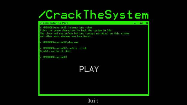 CrackTheSystem - Catcher Game