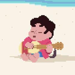 Baby Steven Play Guitar