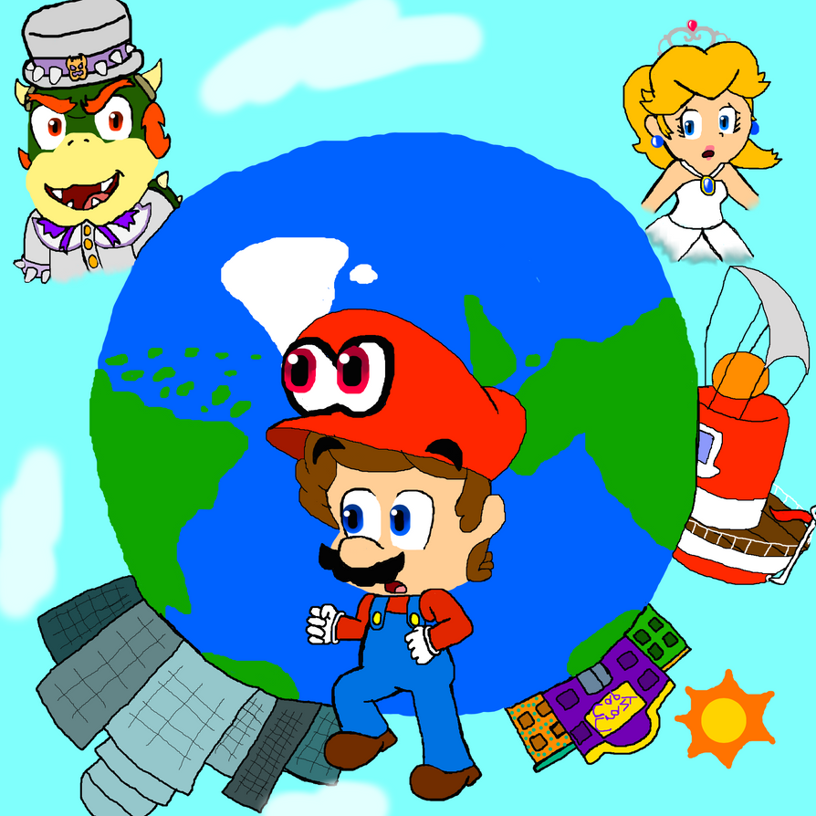 Super mario odyssey by supertoni14 on deviantart for Super mario odyssey paintings