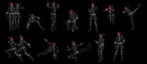 Black Widow Poses
