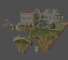 Model DL: SSBU Zelda Temple