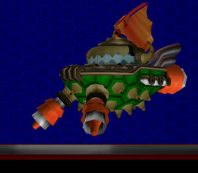 Model DL: Bowser Ship by WOLFBLADE111