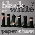 chess set papercraft