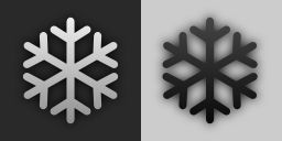 Snow Flake (plain weather icon style)