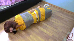 Video April tied and gagged with tape