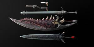 MMD - DMC 5 Dante's Weapon pack DL
