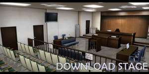 MMD Stage - Courtroom