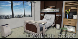 MMD Stage - Hospital Patient Room 2