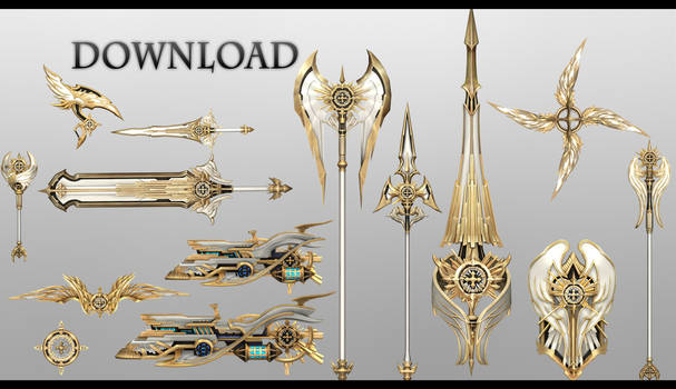 TERA MMD - Angelic Weapons Pack DL