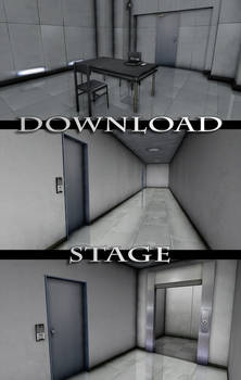 MMD Stage - Hallway and Interrogation Room