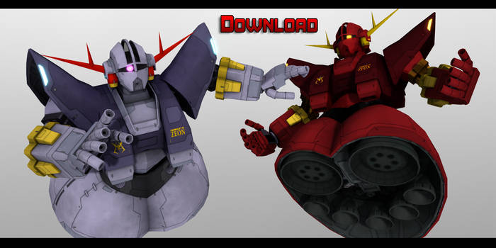 MMD Gundam - MSN-02 Zeong Download