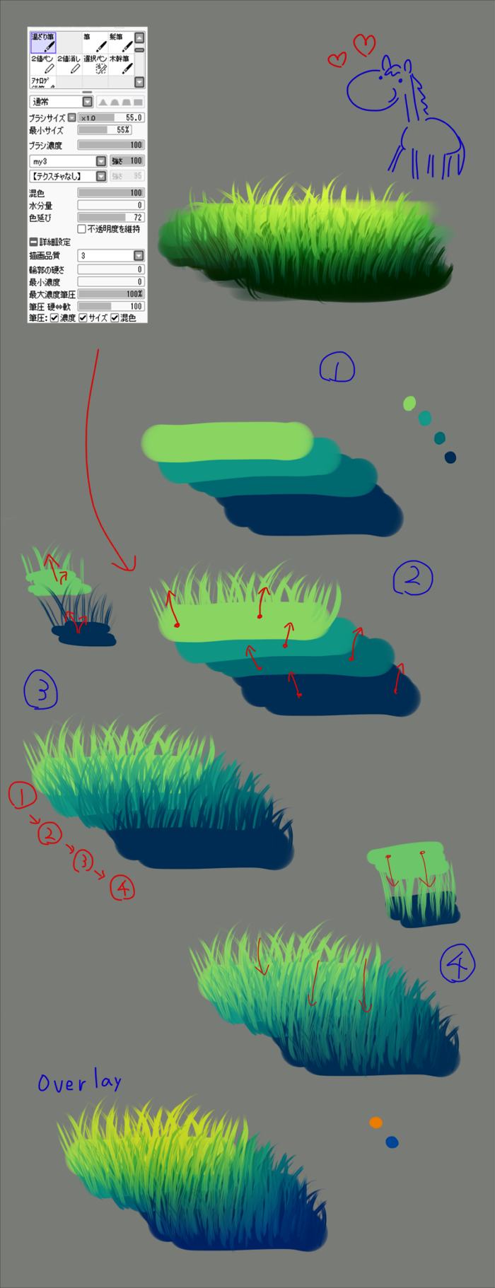 How To Draw Grass Paint Tool Sai