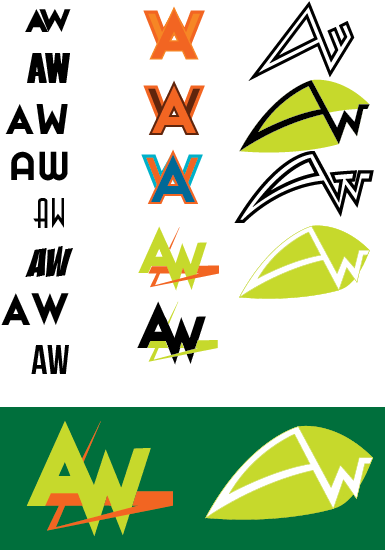 Fun with Letters - AW Monogram by Stryde22