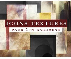 Pack 2 - Icons Texture by karumene by karumene