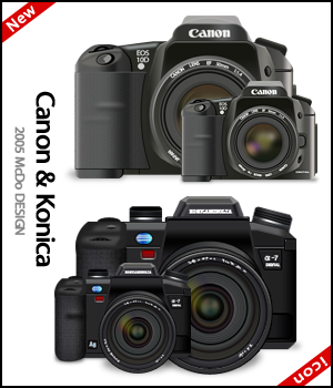 Canon and Konica icon for win by susumu-Express