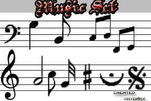 Music Set brushes CS2 by xhydrax