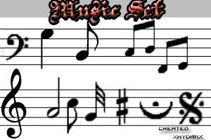 Music Set brushes CS2 by xhydrax