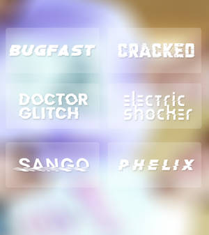distortion  fonts
