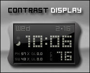 Contrast Display Rainmeter by Nylons