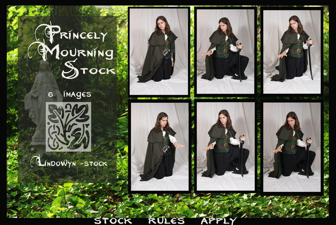 Princely Mourning Pack by lindowyn-stock