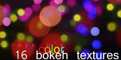 16 color bokeh textures by Shayenn