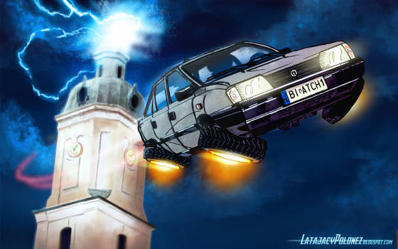 Flying Polonez (wallpaper)