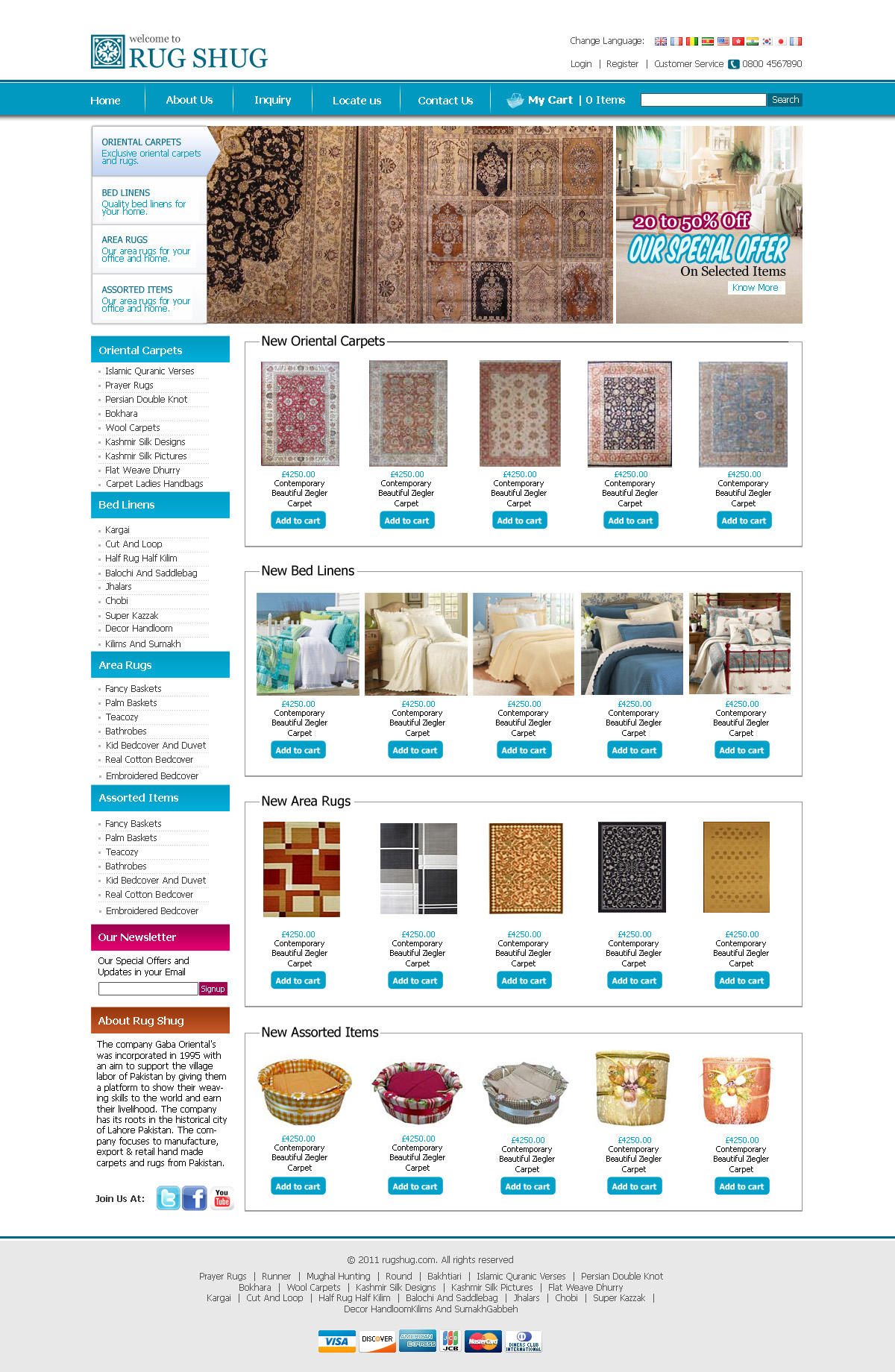 Carpets Shop Free PSD Template by zohaibusman
